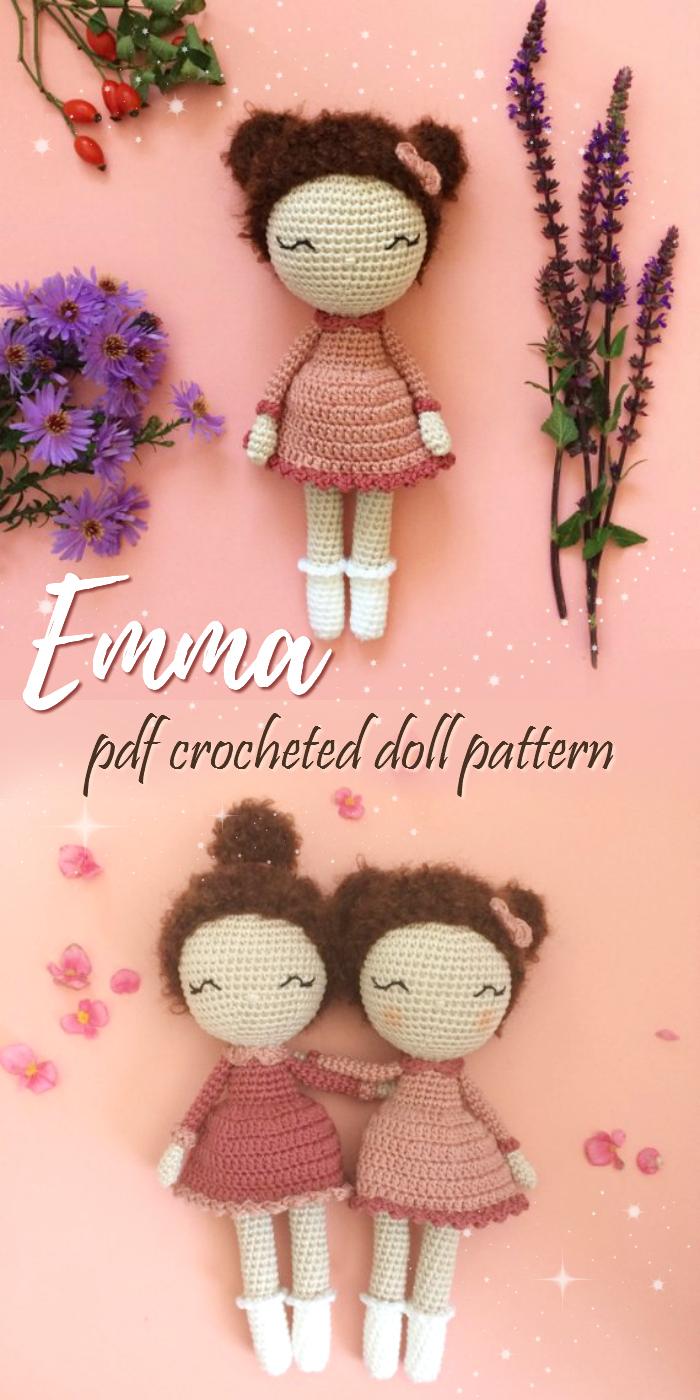 Crochet Emma Doll, Amigurumi Doll, Crochet Doll, Handmade Doll in ... | 1400x700